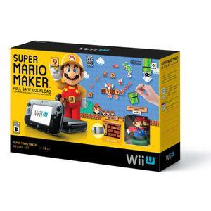 Nintendo Consola Wii U 32GB Bundle Mario Maker Negro