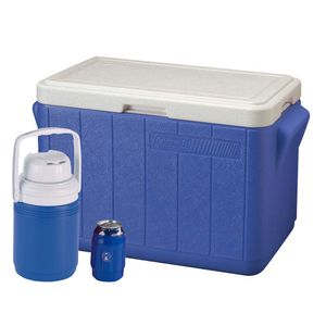 Coleman-Combo-Cooler-28QT-Cooler-13Gal-2Can-Holder-Azul-wong-548550