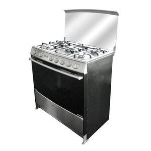 Klimatic-Cocina-de-Pie-a-Gas-5-Hornillas-Nerina-InoxPlateado-544895