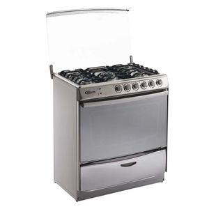 Klimatic-Cocina-de-Pie-a-Gas-5-Hornillas-Speciale-Plateado-544890