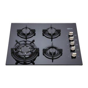 Klimatic-Cocina-Empotrable-a-Gas-4-Hornillas-Notte-Negro-544904