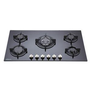 Klimatic-Cocina-Empotrable-a-Gas-5-Hornillas-Negro-544902